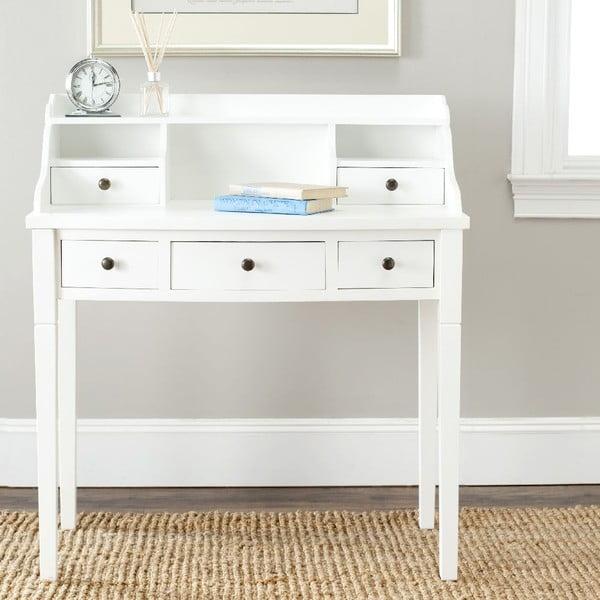 Bílý psací stůl Safavieh Olivia