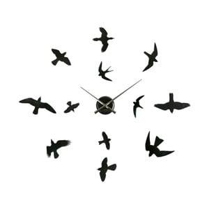 Hodiny DIY Birds, black