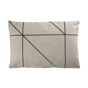 Polštář Zone Grey&Black, 60x40 cm