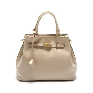 Krémová kožená kabelka Isabella Rhea Azalea