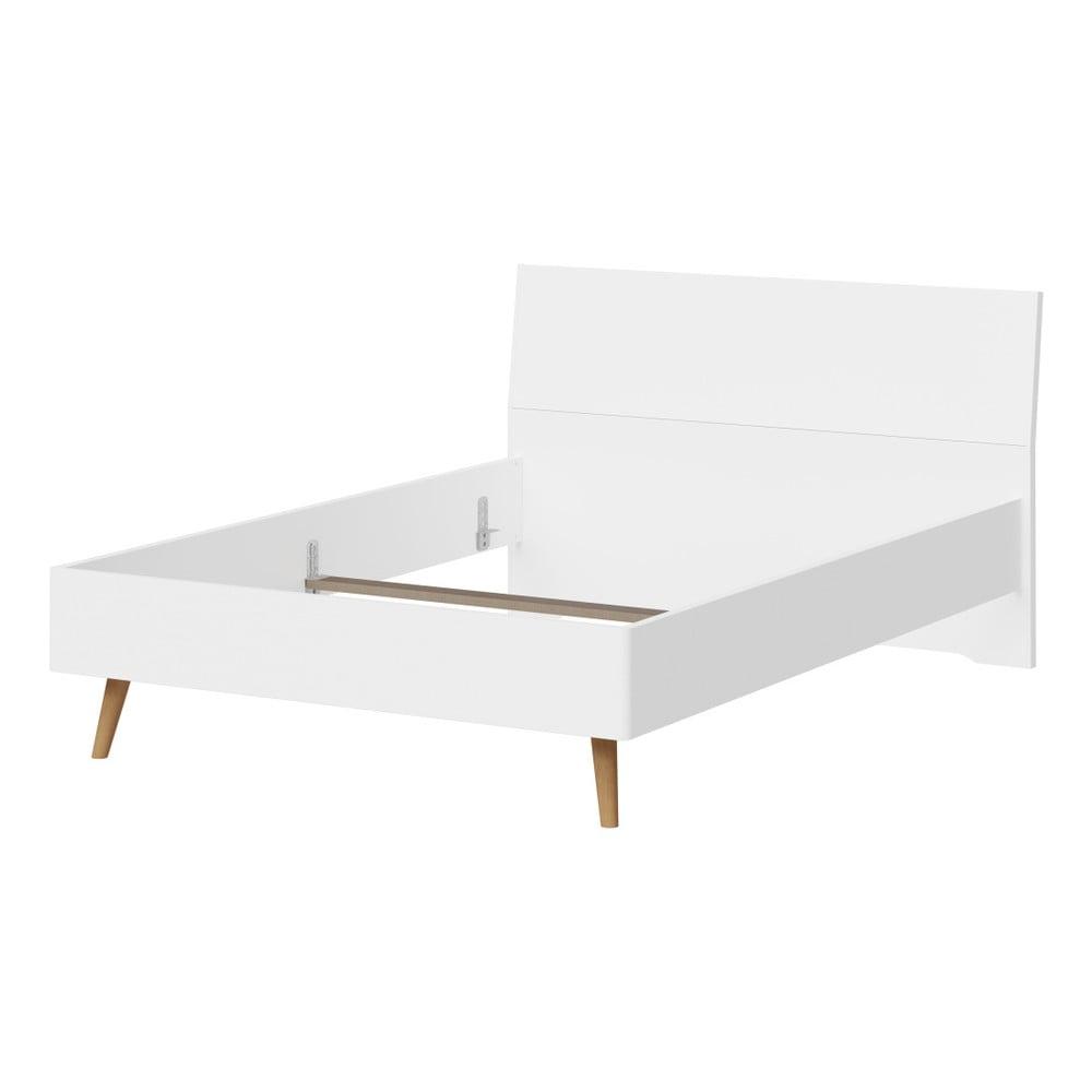 Bílá jednolůžková postel Germania Monteo, 140x200cm