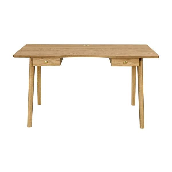 Nice íróasztal, natúr asztallappal - Woodman