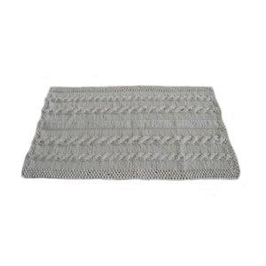 Ručně pletený koberec 100x70 cm, šedý
