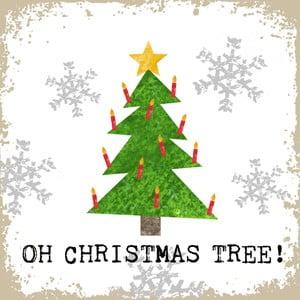 Balení 10 papírových ubrousků s vánočním motivem PPD Oh Christmas Tree