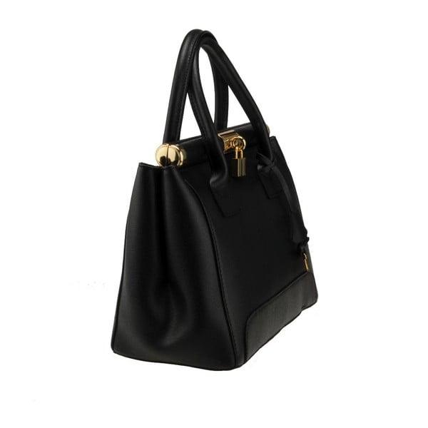 Černá kožená kabelka Florence Abete