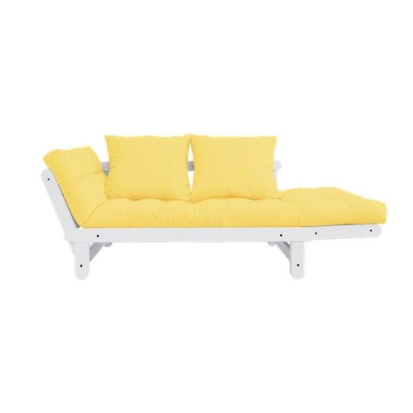 Canapea extensibilă Karup Design Beat White/Yellow