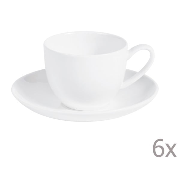 Sada 6 kávových šálků s podšálkem Anna