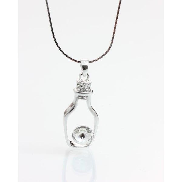Náhrdelník se Swarovski krystaly Yasmine Bottle Clear