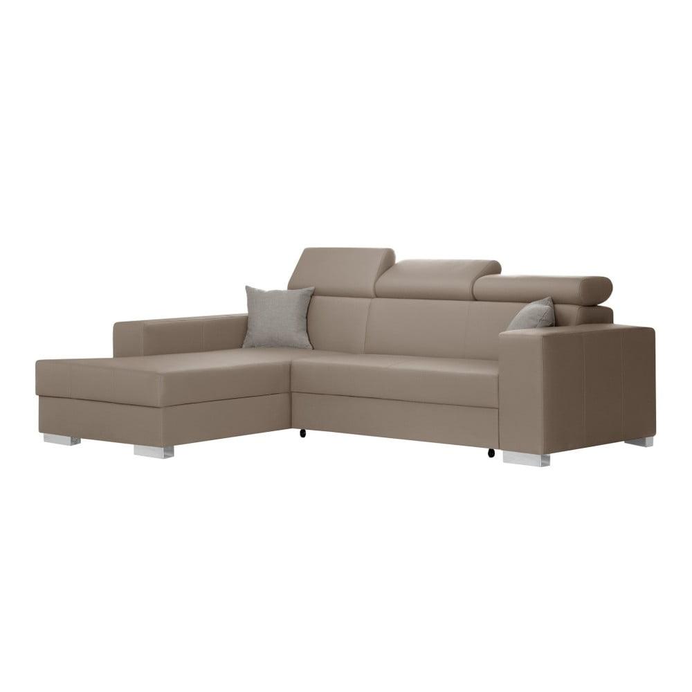 canapea extensibil cu ezlong partea st ng interieur de famille paris tresor caramel bonami. Black Bedroom Furniture Sets. Home Design Ideas