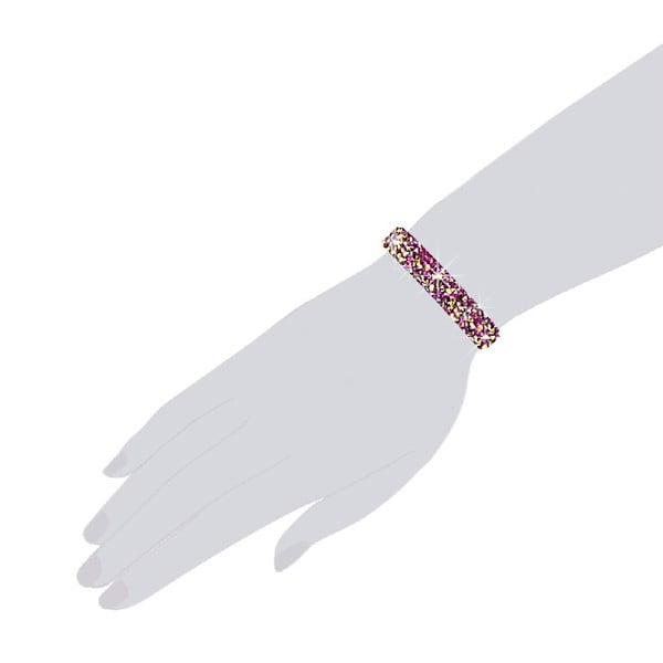 Náramek Bling Pink, 21 cm