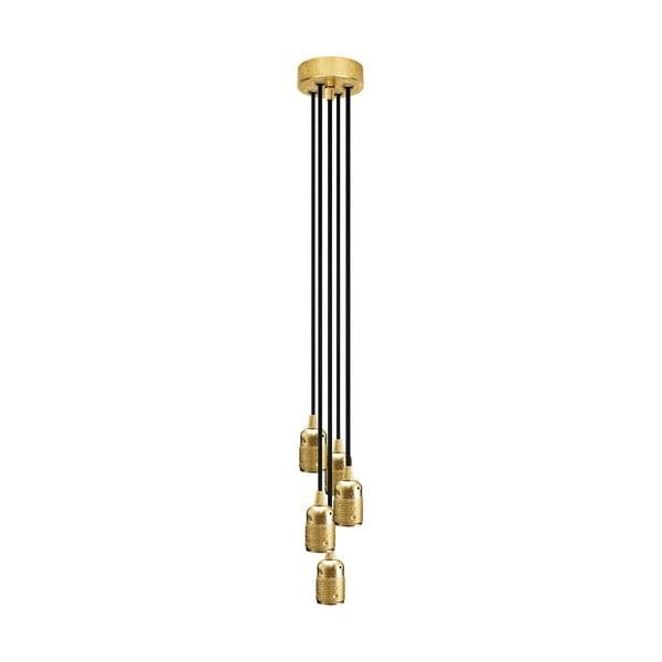 Pětice závěsných kabelů Uno, černá/zlatá