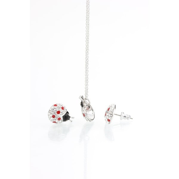 Set náhrdelníku a náušnic s krystaly Swarovski Elements Laura Bruni Dot