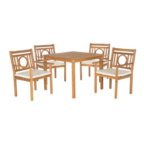 Malaga kerti asztal és szék akácfából - Safavieh