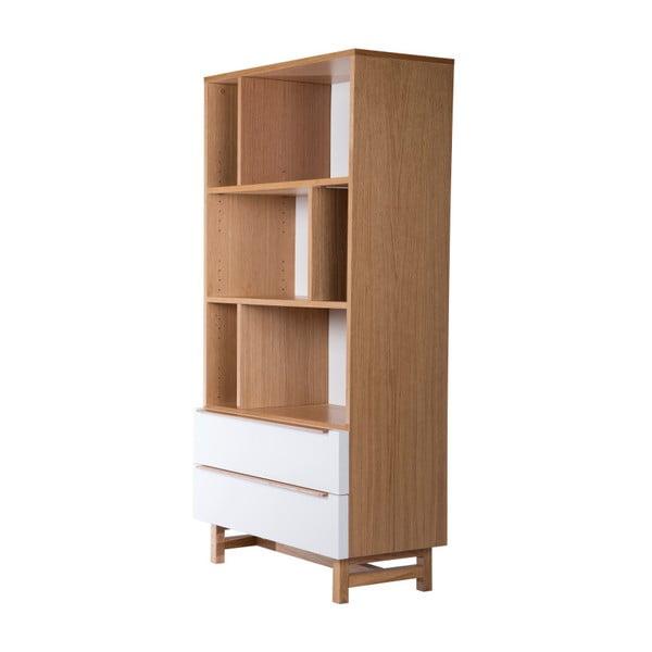 Knihovna z dubového dřeva s 2 zásuvkami Wermo Säre