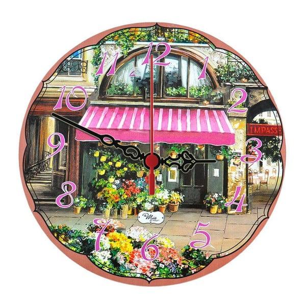 Nástěnné hodiny Flower Stall, 30 cm
