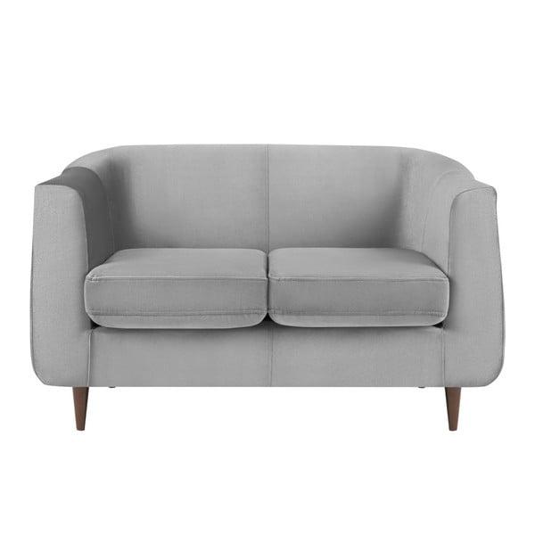 Canapea cu 2 locuri Kooko Home GLAM, gri deschis