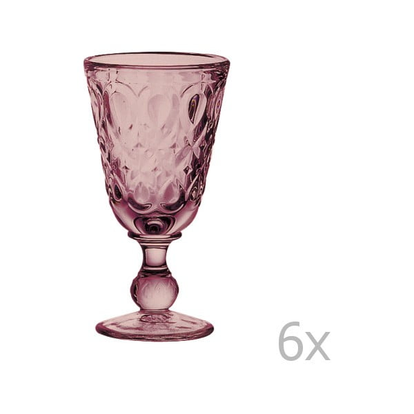Sada 6 ametystových sklenic na víno Lyonnais, 230 ml