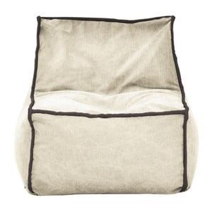 Béžový modulový sedací vak s antracitovým lemem Poufomania Funky