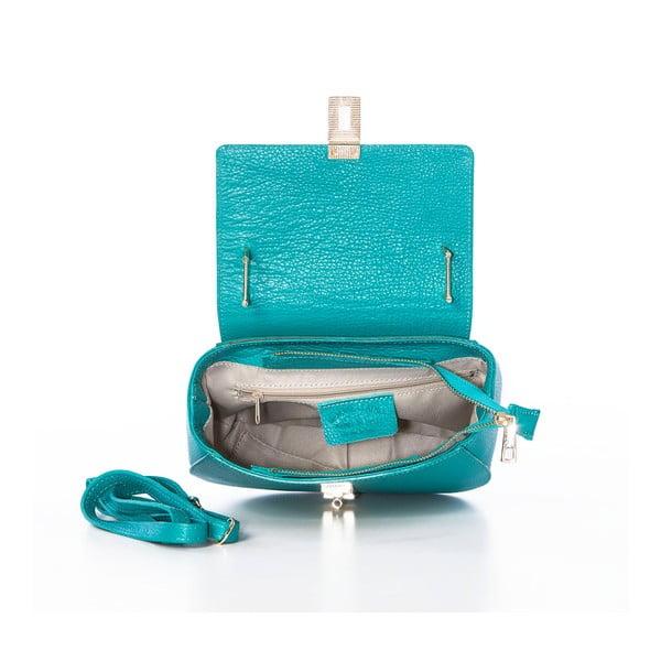 Kožená kabelka Grana Dollaro Turquoise