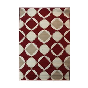 Červený koberec Flair Rugs Carnaby Element Red, 120x170cm