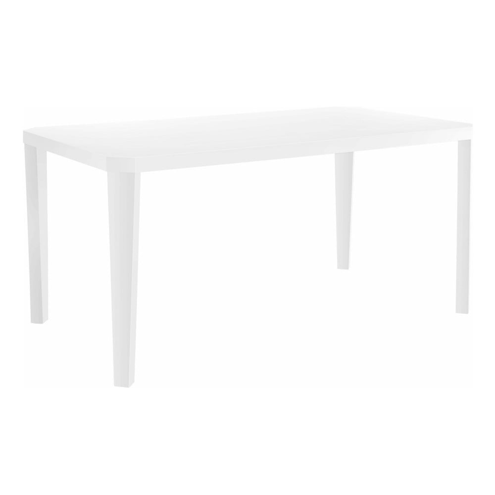 Lesklý bílý jídelní stůl Støraa Argos, 90x160cm