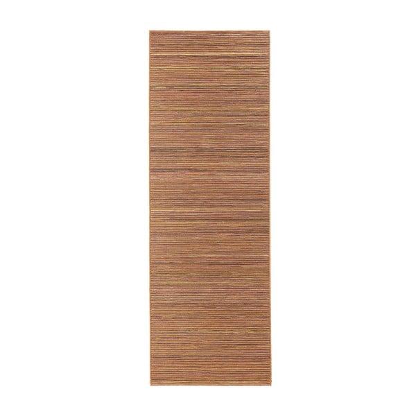 Koberec vhodný i na ven Lotus 80x240 cm, oranžový melír