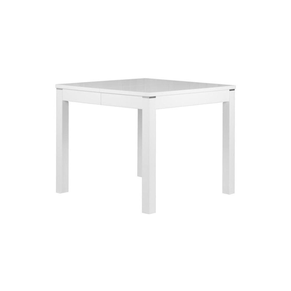 Matný bílý rozkládací jídelní stůl Durbas Style Eric, délka až 180 cm