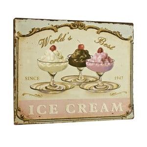Cedule World´s best ice cream, 26x35 cm