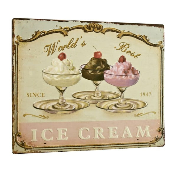 Cedule World´s best ice cream, 26x35 cm