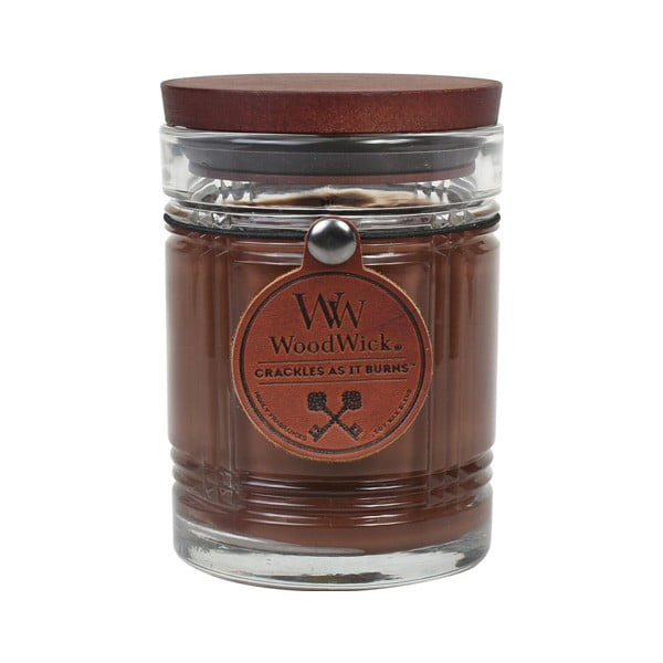 Svíčka s vůní černého čaje, medu a koňaku WoodWick Antique, dobahoření50hodin