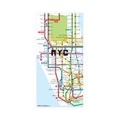 Hartă magnetică Kikkerland New York