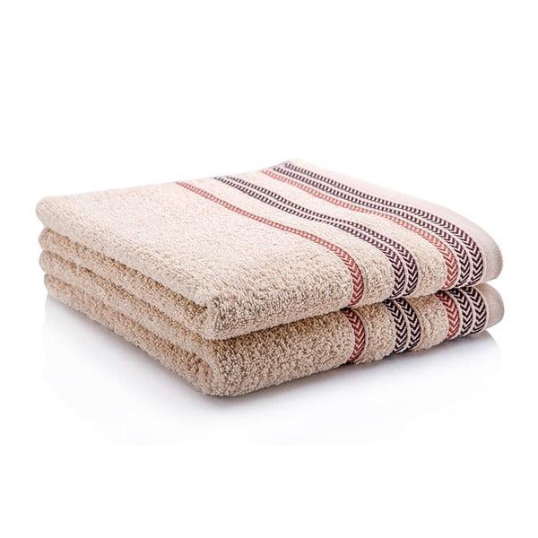 Sada dvou ručníků Hugo 50x90 cm, beige