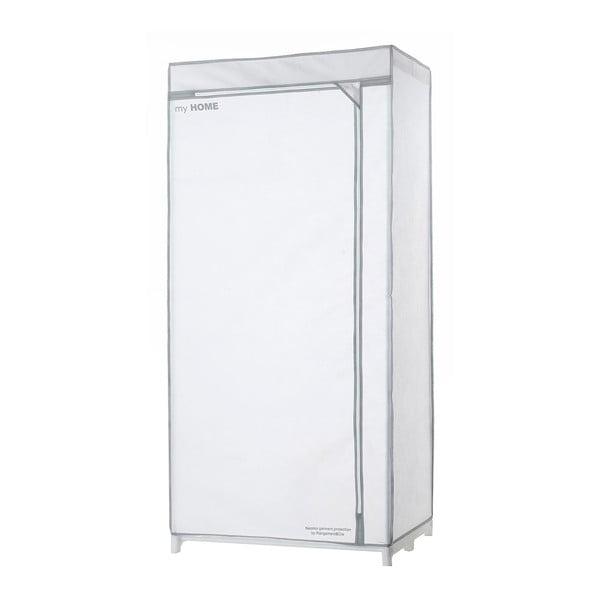 Biela textilná šatníková skriňa Compactor Wardrobe X1