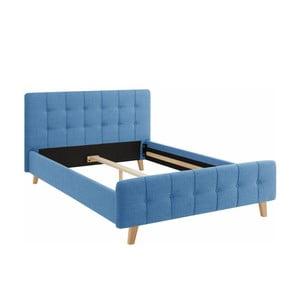 Modrá dvoulůžková postel Støraa Limbo, 140x200cm