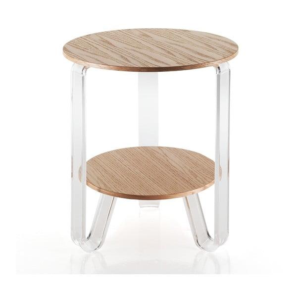Drevený odkladací stolík Tomasucci Poole, Ø 48 cm