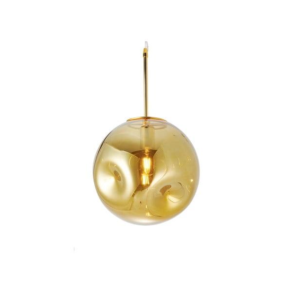 Lampa wisząca z dmuchanego szkła w kolorze złota Leitmotiv Pendulum