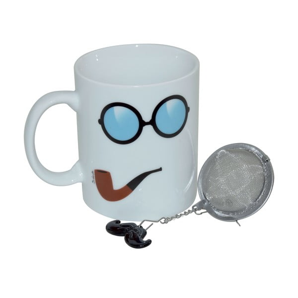 Hrnek se sítkem na čaj Moustache