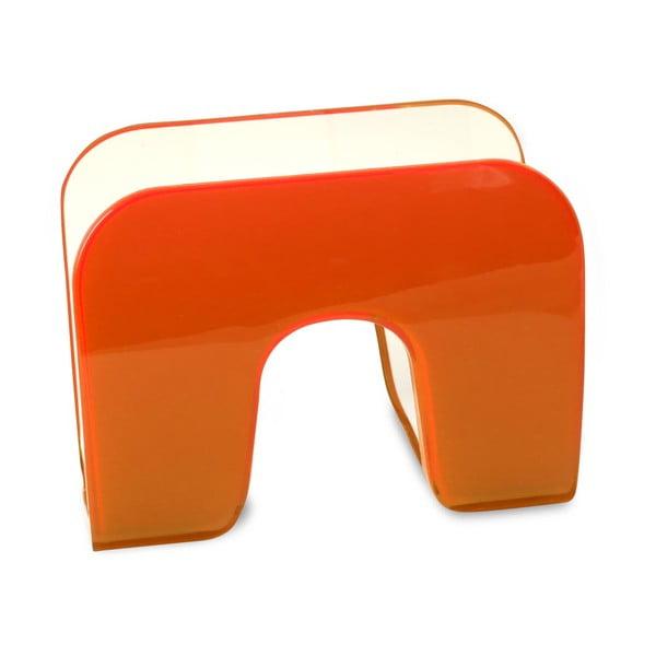 Stojan na ubrousky, oranžový