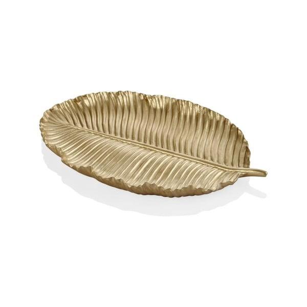 Listek dekoracyjny w złotym kolorze The Mia Leaf, 26x17 cm