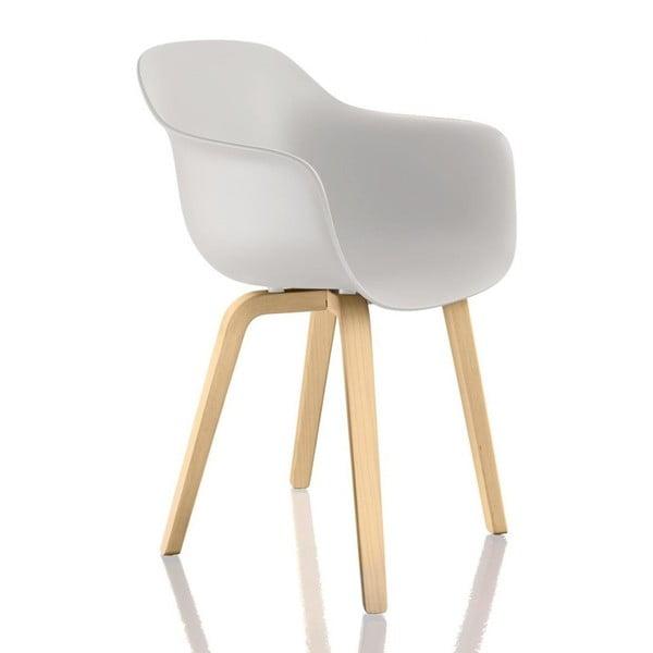 Bílá jídelní židle s područkami Magis Substance