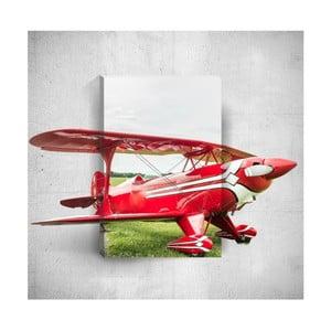 Nástěnný 3D obraz Mosticx Red Plane, 40 x 60 cm