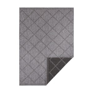 Černo-antracitový oboustranný koberec vhodný i na ven Bougari Corsica, 160 x 230 cm