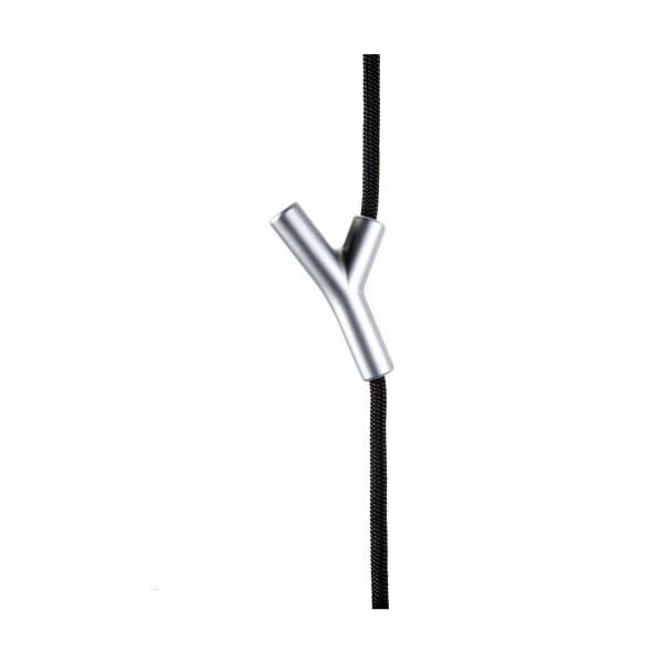 Provazový věšák Wardrope, černé lano s matnými háčky