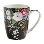 Hrnek z kostního porcelánu Maxwell & Williams Kilburn Midnight Blossom, 390 ml