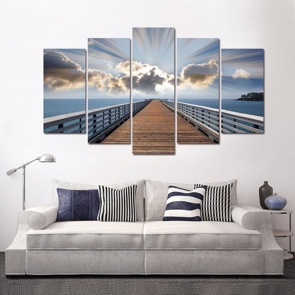 5dílný obraz Paradis, 60x100 cm