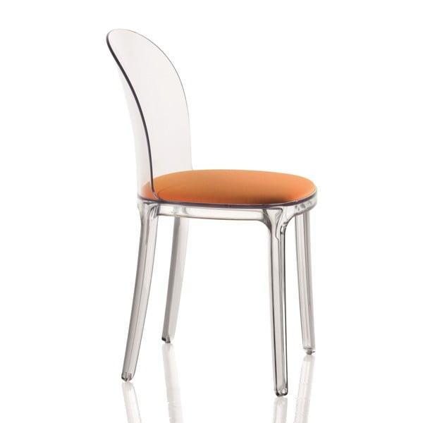 Židle s oranžovým sedákem Magis Vanity