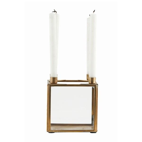 Svícen Square Brass, 10x10 cm