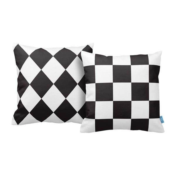 Sada 2 polštářů Chess, 43x43 cm