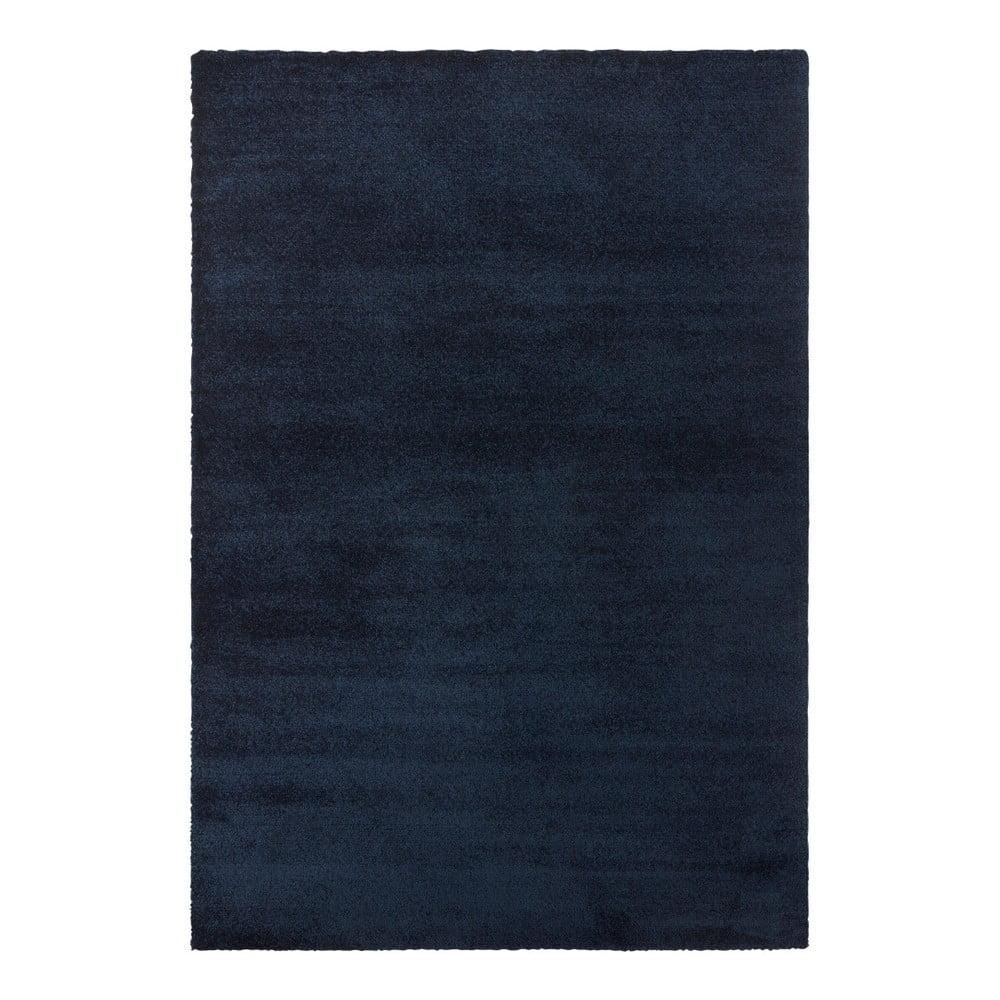Tmavě modrý koberec Elle Decor Glow Loos, 160 x 230 cm