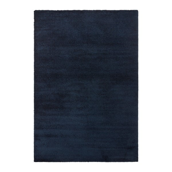 Tmavě modrý koberec Elle Decor Glow Loos, 80 x 150 cm